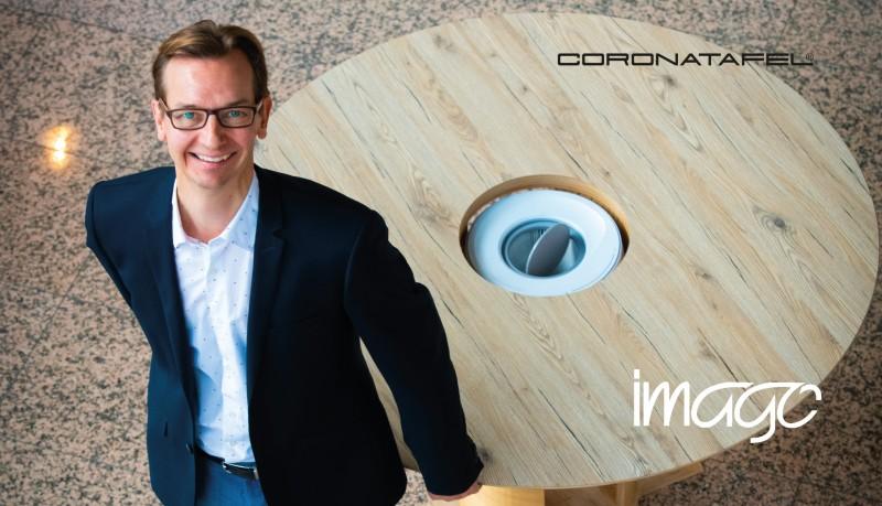 Imago Magazine: interview met de uitvinder van de luchtreinigende coronatafels
